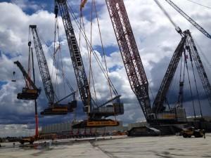 crane lifting a crane
