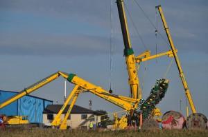crane falling over